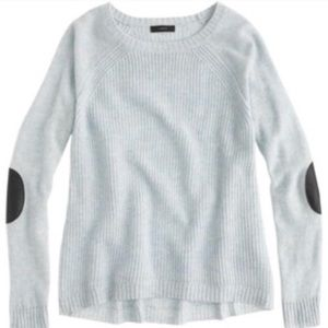 J Crew Wool Elbow Patch Sweater